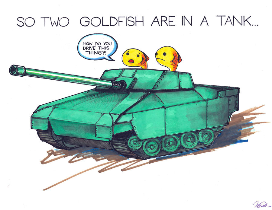 So Two Goldfish Are In a Tank...