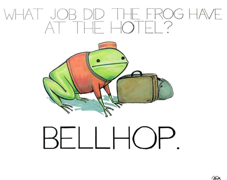 What job did the frog have at the hotel?