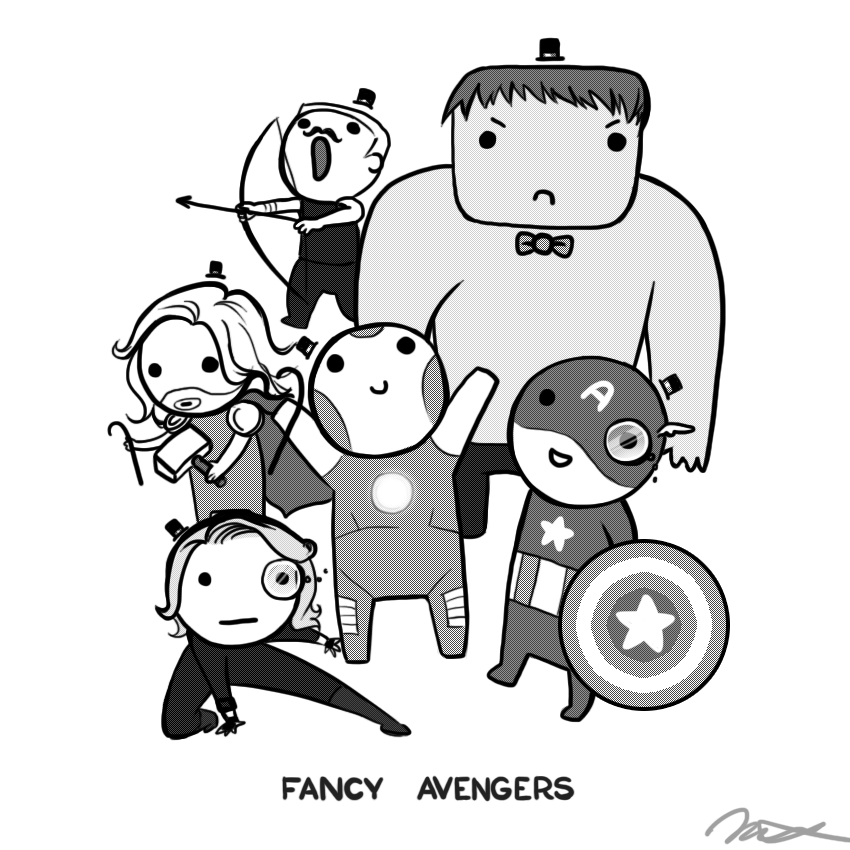 Fancy Avengers by arseniic