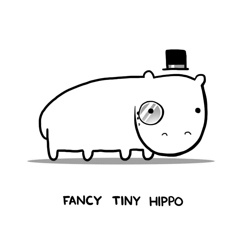 Fancy Tiny Hippo by arseniic