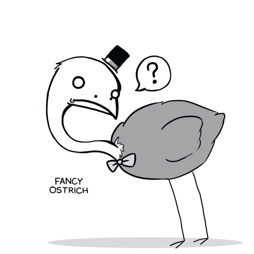 Fancy Ostrich by arseniic