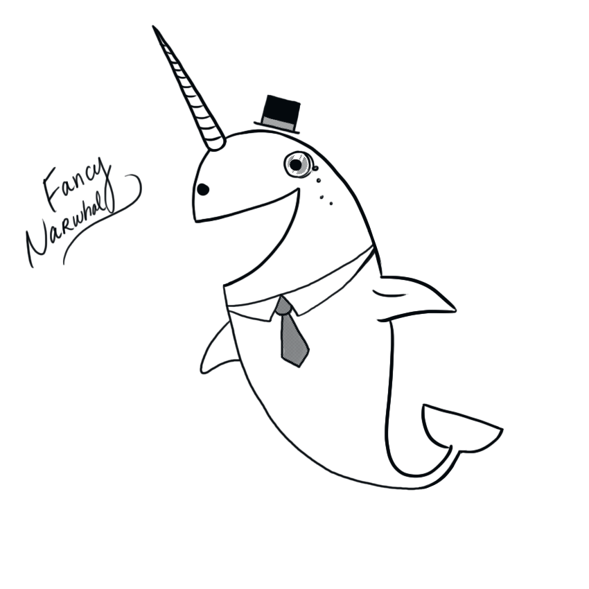 Fancy Narwhal by arseniic