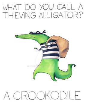 What do you call a thieving alligator?