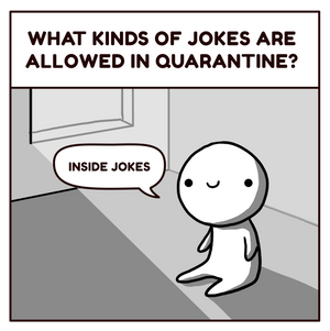 What jokes are allowed in quarantine?