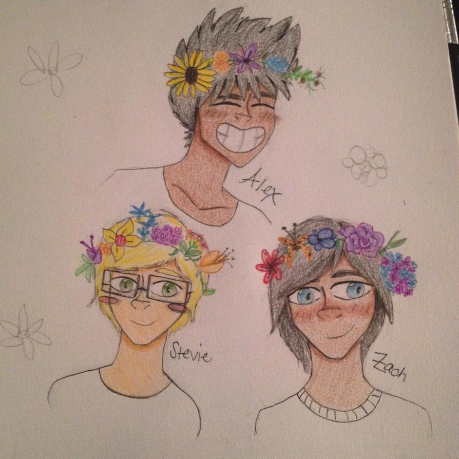 Flower Crown Boys by AwesomeStarr