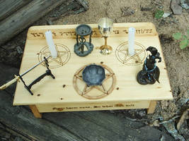 Wiccan Altar Setup by DragonOak