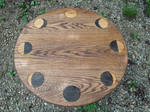 Oak Lunar Phases Altar Table