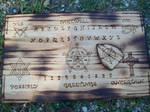 Custom Made Wood Ouija Board