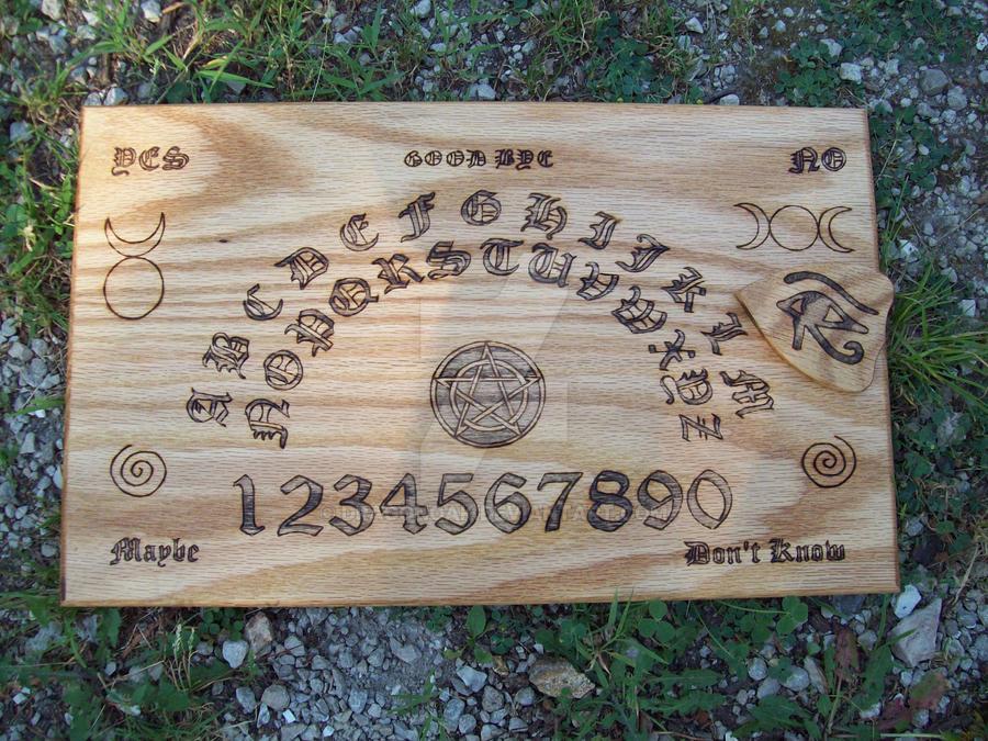 Wood Wiccan Ouija Board
