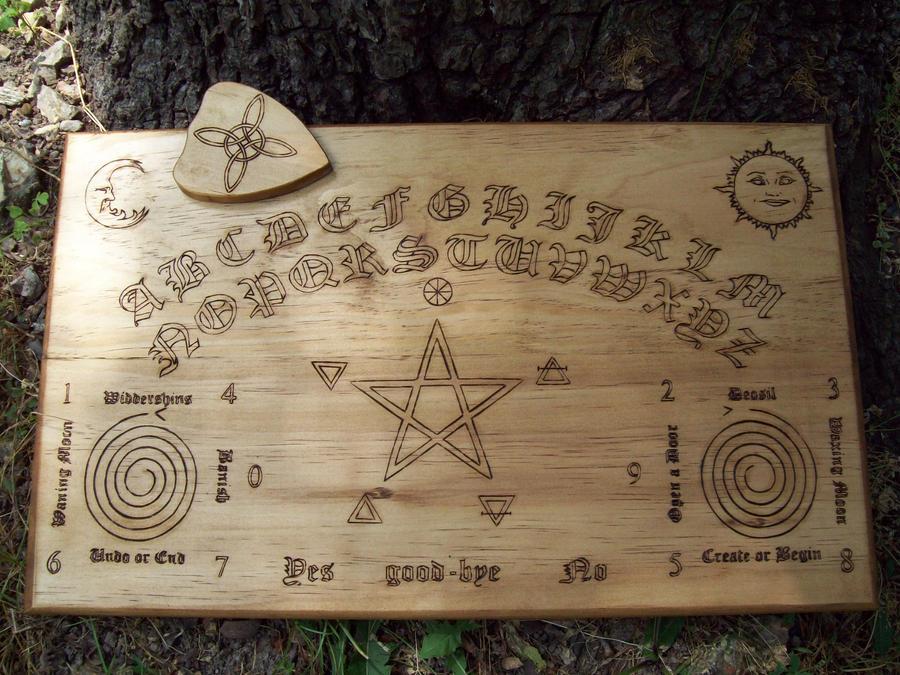 Wiccan Themed Ouija Board By Dragonoak On Deviantart