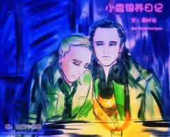 Captain Nicholls and Loki by happylife999