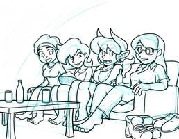 Girls Watching TeeVee