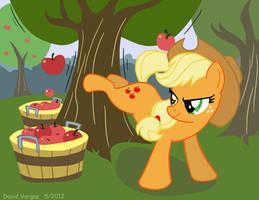 Applejack Applebucking by LateCustomer