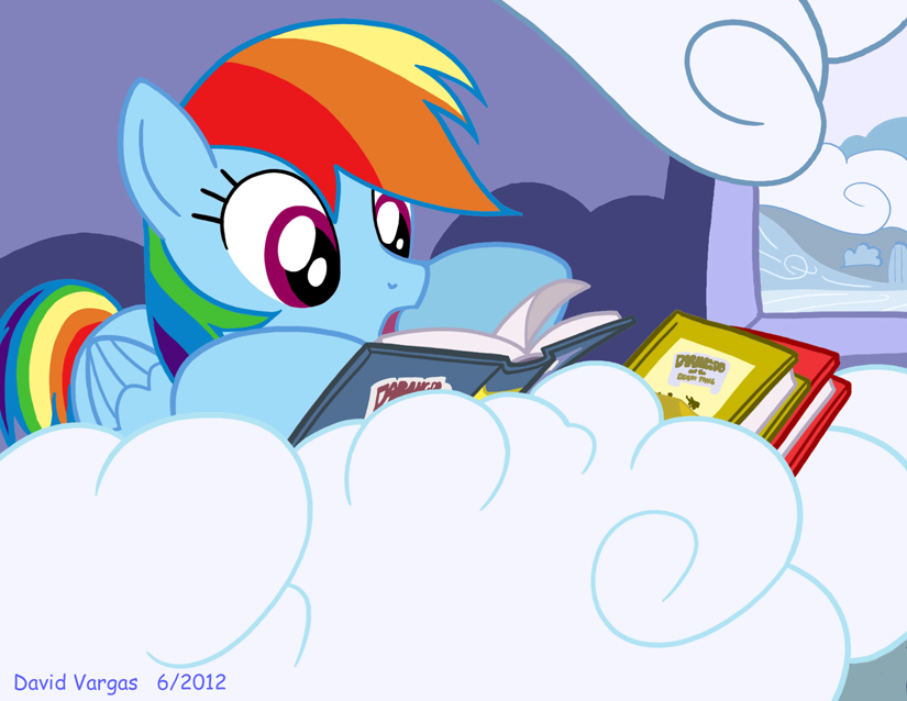 Reading Rainbow Dash by LateCustomer on DeviantArt