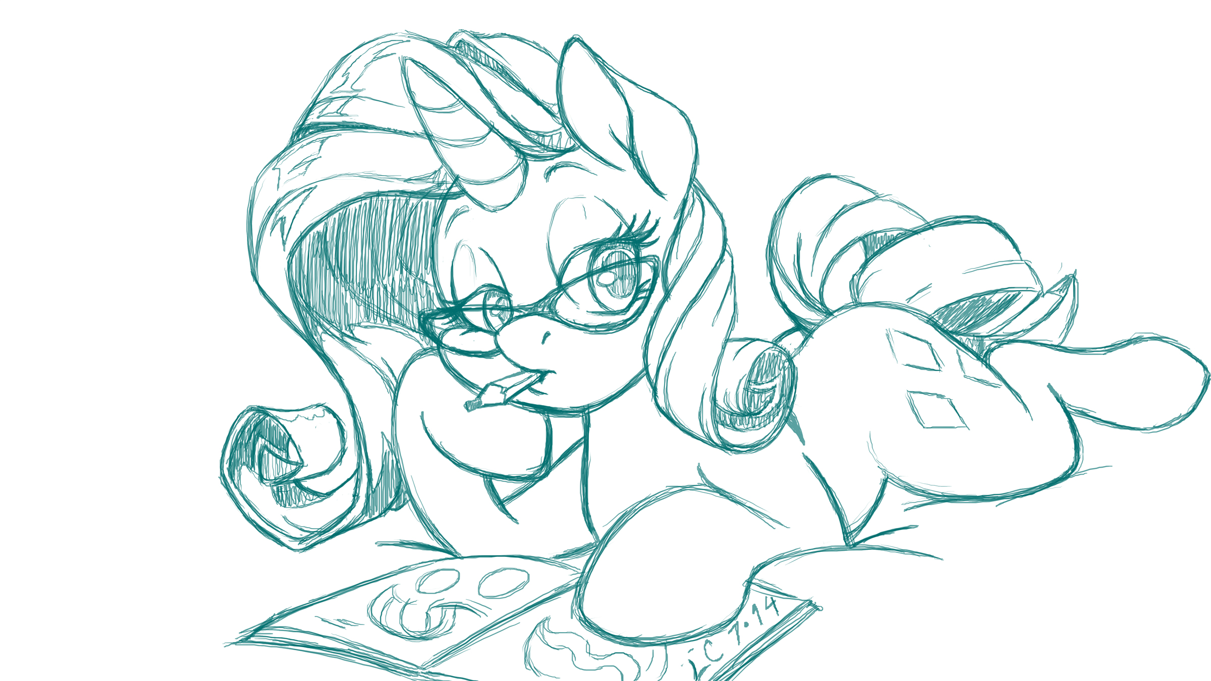 Waiting for Inspiration (sketch) by LateCustomer