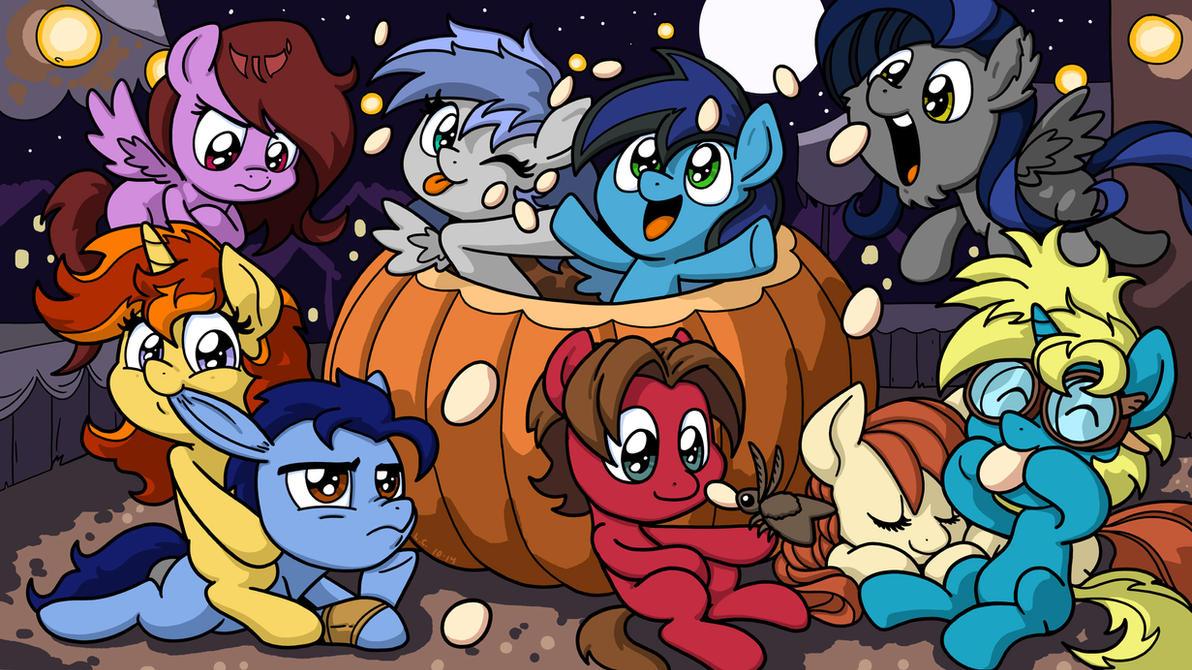 Pumpkin Pony Friends by LateCustomer