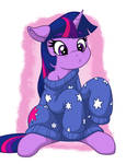 Twilight in Over-sized Sweater