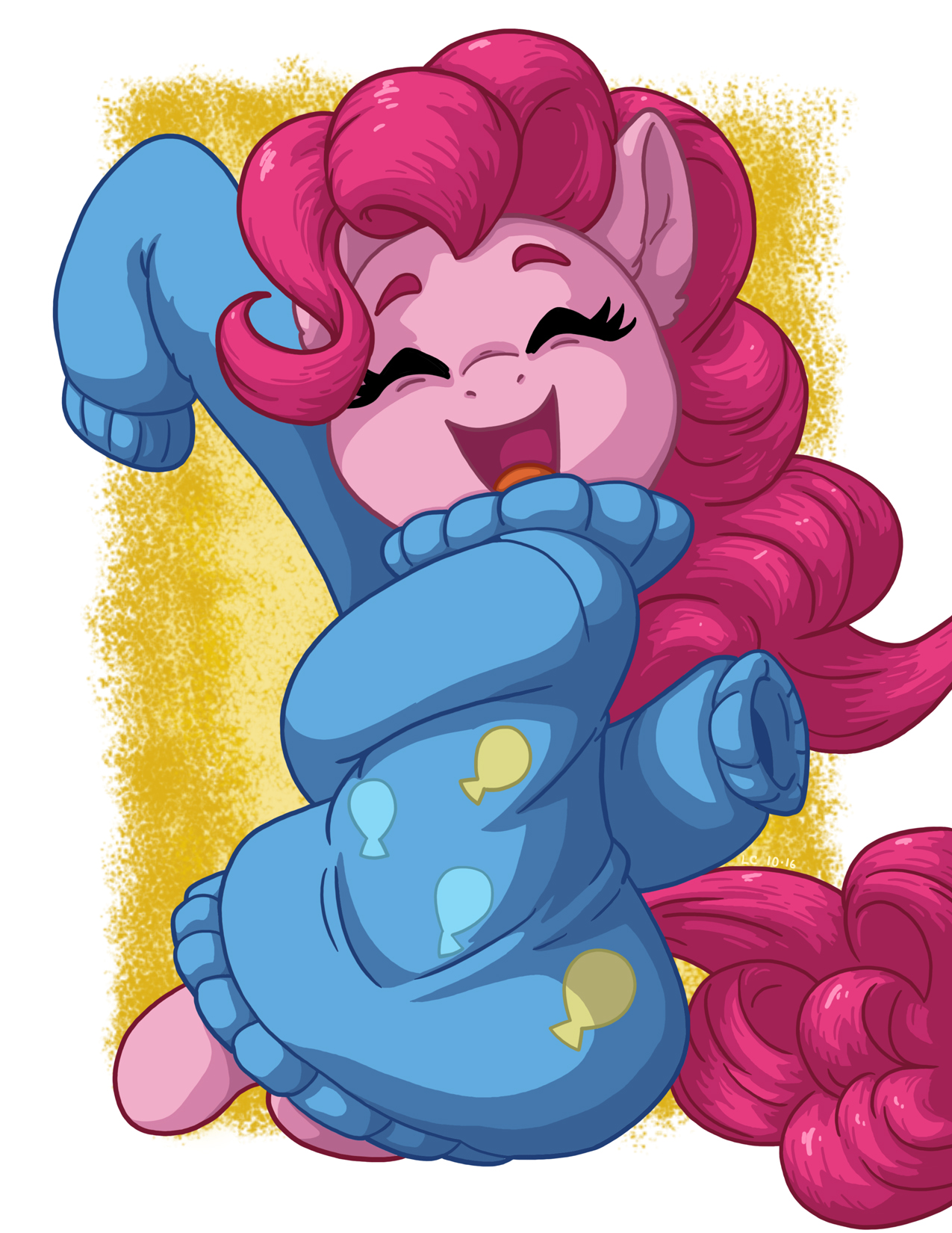 Pinkie In Over-sized Sweater