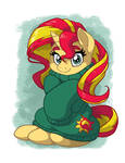 Sunset Shimmer in Over-sized Sweater