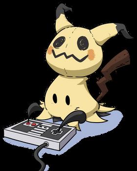 Mimikyu Playing NES