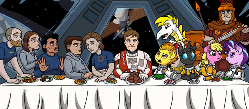 The Maretian Last Supper by LateCustomer