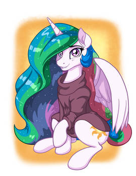 Celestia in Oversized Sweater