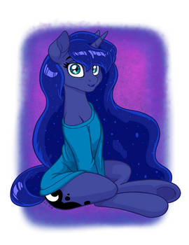 Luna in Oversized Sweater