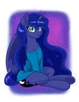 Luna in Oversized Sweater (fixed version) by LateCustomer