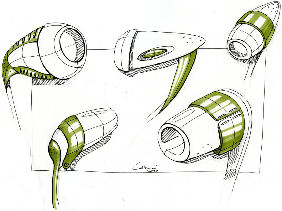 Product Design Line Art : Headset sketches by carisketching on deviantart