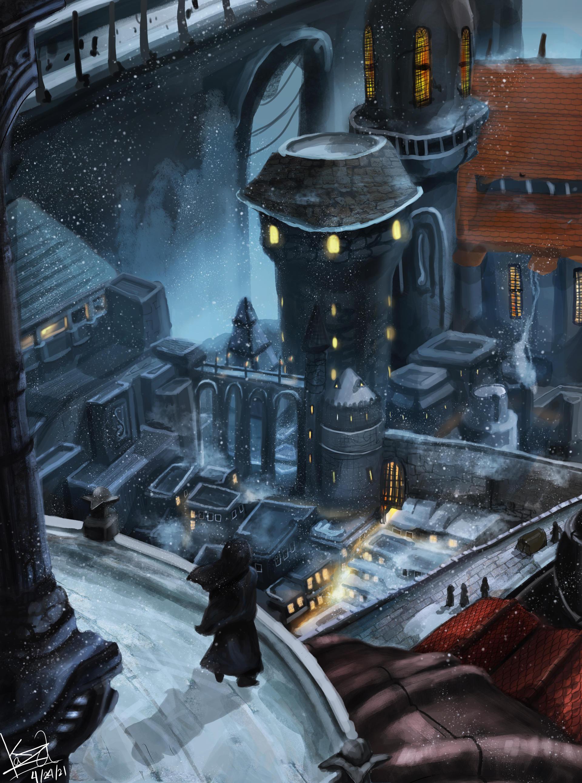 Shadow on castle