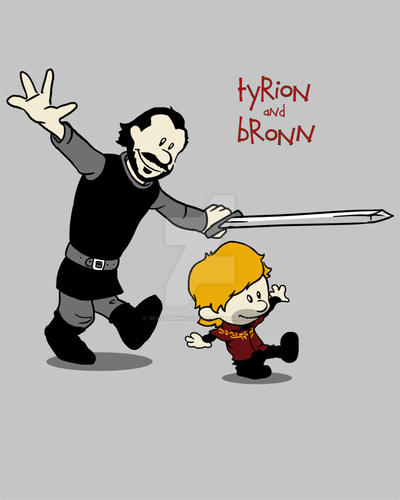 Tyrion and Bronn by spacemonkeydr