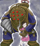 Big Daddy and Little Sister by LordAeonN