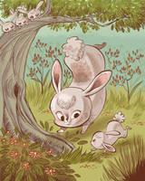 Bunnies by tinysnail