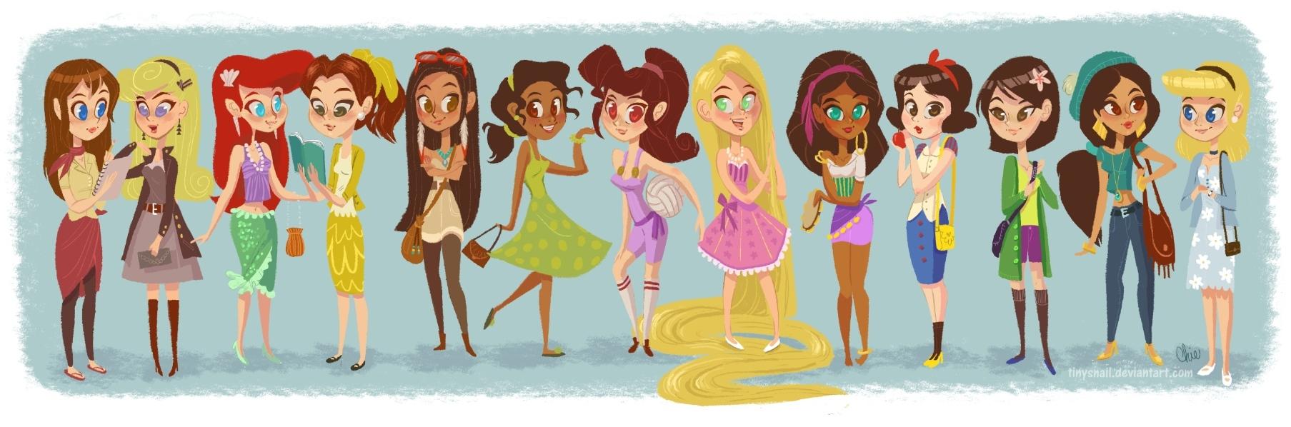modern disney girls by tinysnail