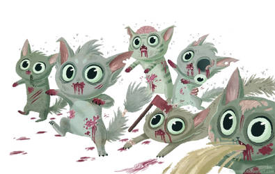 zombie kitties by tinysnail