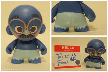 Tobias Funke Munny by tinysnail