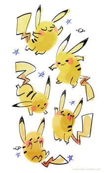 pikachu doodles