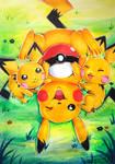 [Traditional] Pikachu family