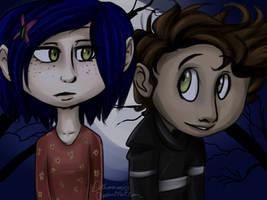 Coraline and Wybie by Detharmonics