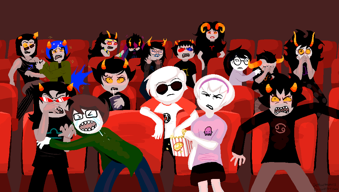 Nepeta And Eridan Day Out: At the Movies...
