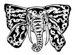 Tribal Elefant Butterfly Tattoo - ZeichenbloQ.de by ZeichenbloQ