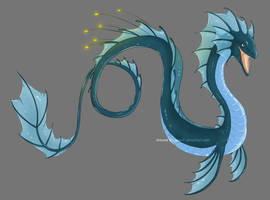 Sea Lindworm by Lucie-P