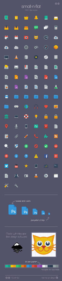 small-n-flat icons