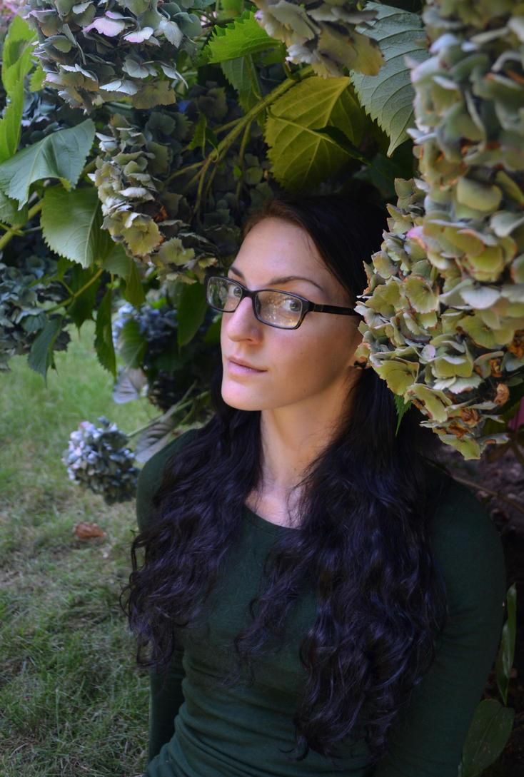 Hydrangea Self-Portrait by emmasea