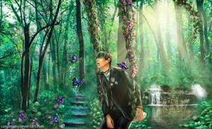 Taehyung`s Butterfly Dream (BTS V fanart)