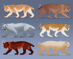 [CLOSED] *300 points/3$* Sabertooth Adopts! by Cryptillian