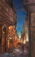 Italian alley by DavidCuriel