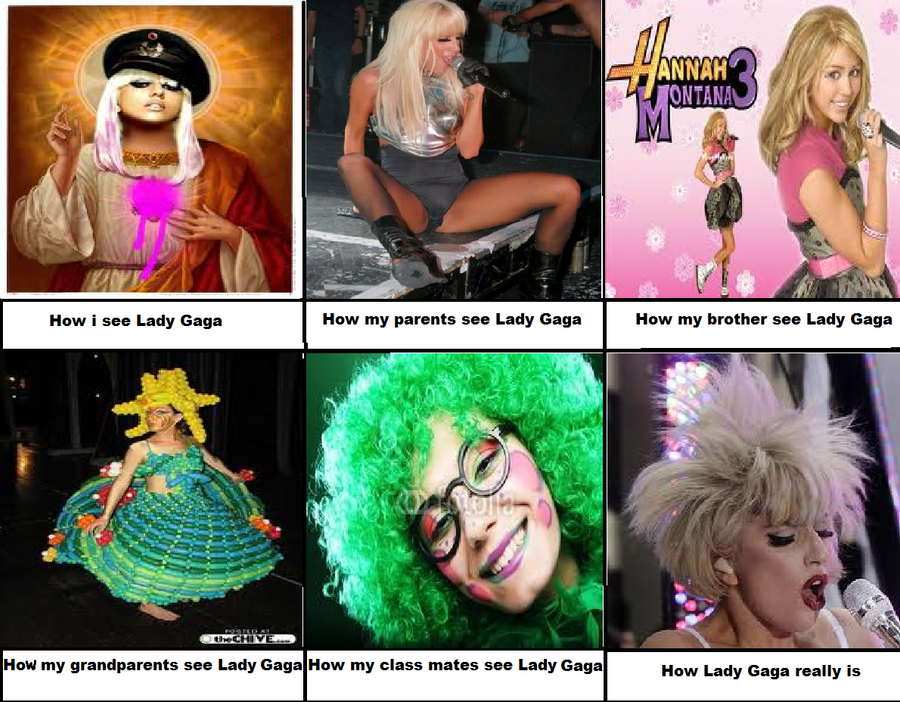 How i see and people see Lady Gaga by IraBlue11