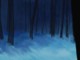 Night forest by Noire-Ighaan