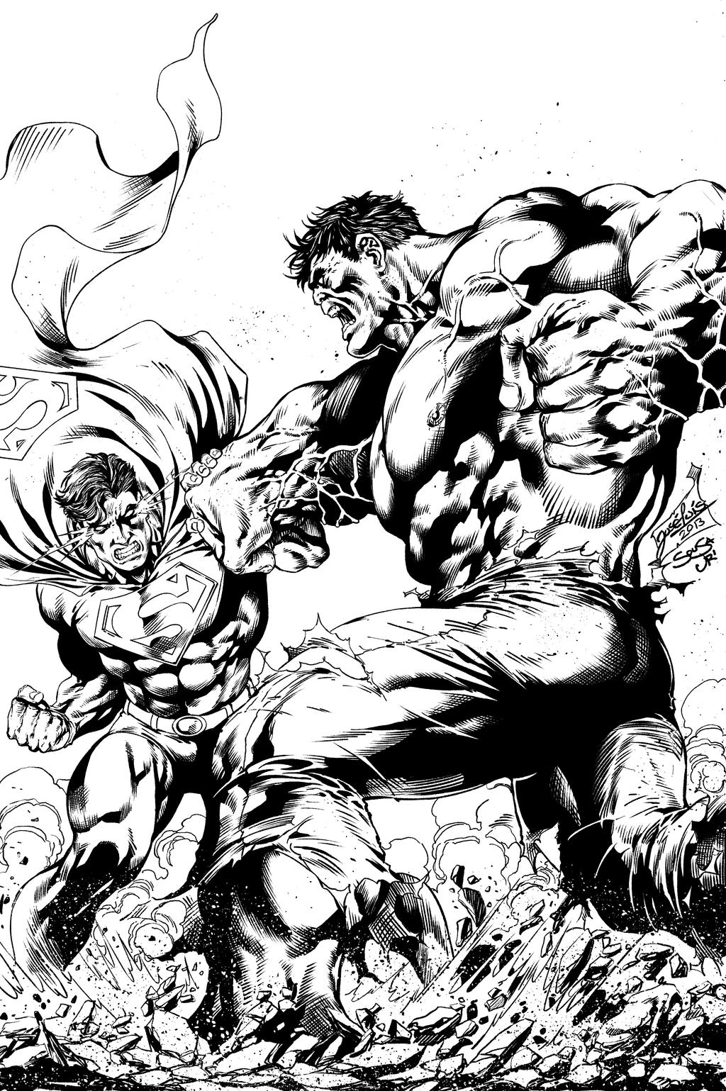 hulk vs superman coloring pages - photo#3